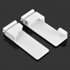 YS10258 Universal Plastic Wall Mount Holder Hook for Smart Phone + Tablet PC - White (2 PCS)