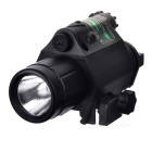 JGSD-Green 2-in-1 20mW Green Laser Gunsight w/ 200lm Flashlight for 17.8~21mm Gun Rail - Black