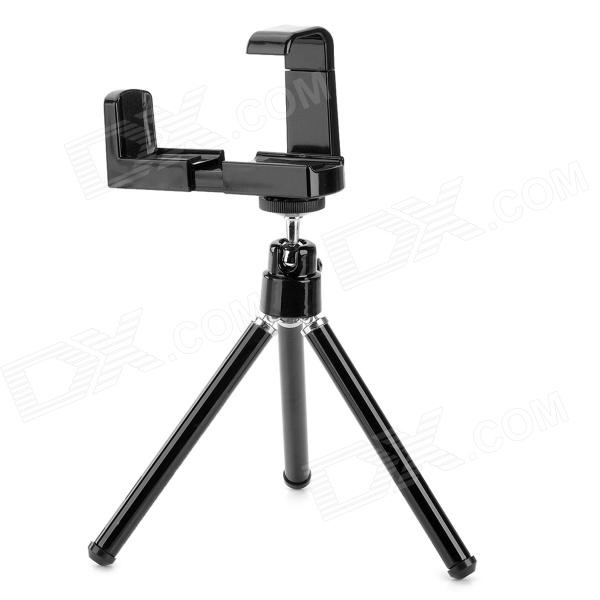 Universal Mini 360 Degree TrIpod Holder for Iphone 5 / 5c / 5s / 4s / Samsung + More - Black universal 360 degree rotatable car air vent holder for cell phone black