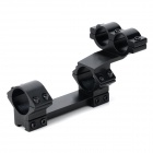 Dual 25.4cm 20cm Aluminum Alloy Scope Gun Mount - Black