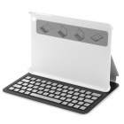 YERJ--K90 Bluetooth V3.0 61-Key Keyboard for Ipad MINI - White + Silver