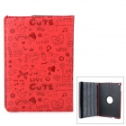 Cute Cartoon Style Protective PU Leather Case w/ Auto Sleep for Ipad AIR - Red