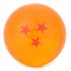 Q76-3 7.6cm Three Star Pattern Dragon Ball Resin Ball - Orange