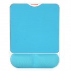 Ergonomic Memory Foam Wrist Support Mouse Pad - Blue + White