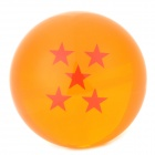 Q76-5 Elegant 7.6cm 5-Star Resin Ball Toy - Orange