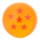 Q76-6 7.6cm Six Star Pattern Dragon Ball Resin Ball - Orange