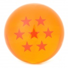 Q76-7 7.6cm Seven Star Pattern Dragon Ball Resin Ball - Orange