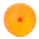 Q76-1 7.6cm One Star Pattern Dragon Ball Resin Ball - Orange