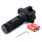 Tactical Aluminum Alloy Foregrip Red Laser Sight / 230lm Flashlight for AK47 / M4 + More - Black