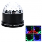 DR-XL-18 15W RGB Automatic + Sound LED Crystal Magic Ball Solar Power Rotating Stage Light - Black