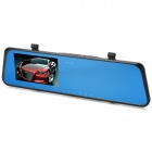 "H701 5.0 MP 4.3"" TFT 2-Camera CMOS Car Rearview Mirror Car DVR - Black (32G)"