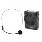 Portable Media Player Speaker Magaphone w/ TF / USB / FM / Microphone - Black