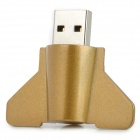 8-1 Airplane Style USB 2.0 Flash Drive - White + Golden (8GB)