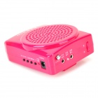N74U Portable Media Player Speaker Megaphone w/ TF / FM / USB / Microphone - Deep Pink