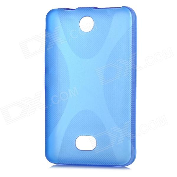 X Shape Protective TPU Back Case for Nokia 501 - Blue