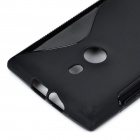 X Style Protective TPU Back Case for Nokia 925 - Black