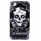 Stylish Skull Pattern Thin Plastic Back Case for Iphone 4 / 4s - White + Black