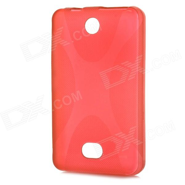 X Shape Protective TPU Back Case for Nokia 501 - Red