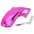 Universal DIY Electroplated Plastic Rear Mud Guard for Motorcycle / Scooter - Purple