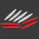 Protective Crystal-inlaid Latex Anti-Collision Car Side Mirror / Door Edge Stickers - White (4 PCS)