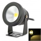 SC10 10W 12V Warm White Outdoor Flat Lens Waterproof Landscape Project Lamp - Black