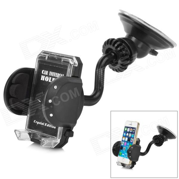Universal Handy 360' Rotating Car Mounted Holder for Iphone / GPS / MP4 + More - Black windshield universal swivel rotation car mount holder for cell phone gps psp iphone black