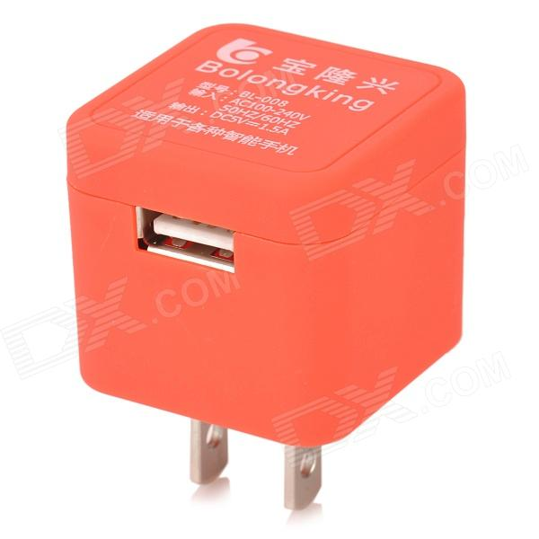 Baolongxing BL-008 Mini Portable Female USB 2.0 Output US Plug Power Adapter - Red (100~240V) слесарно монтажный набор с квадратом 1 2 sparta 135065