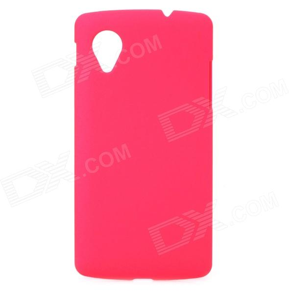 Protective PC Resin Back Case for LG E405F / Google N5 / Google Nexus 5 - Deep Pink stylish protective pvc neoprene armband for lg nexus 5 black pink