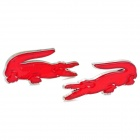 DIY Reflective Crocodile Style Sticker for Car - Red + Silver (2 PCS)