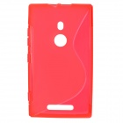Stylish Simple S Pattern TPU Back Case for Nokia 925 - Red