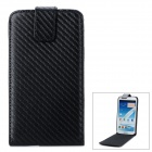 Classic Flip-open PU Leather Case for Samsung Galaxy Note 2 II N7100 - Black