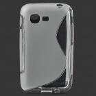 Stylish Simple S Pattern TPU Back Case for Samsung S5222 - Transparent