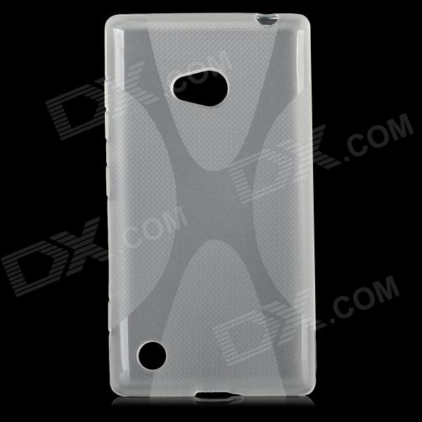 ''X'' Shaped Protective TPU Back Case for Nokia 720 - Transparent