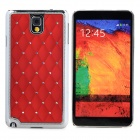 Starry Pattern Protective PC Back Case for Samsung Galaxy Note 3 - Red