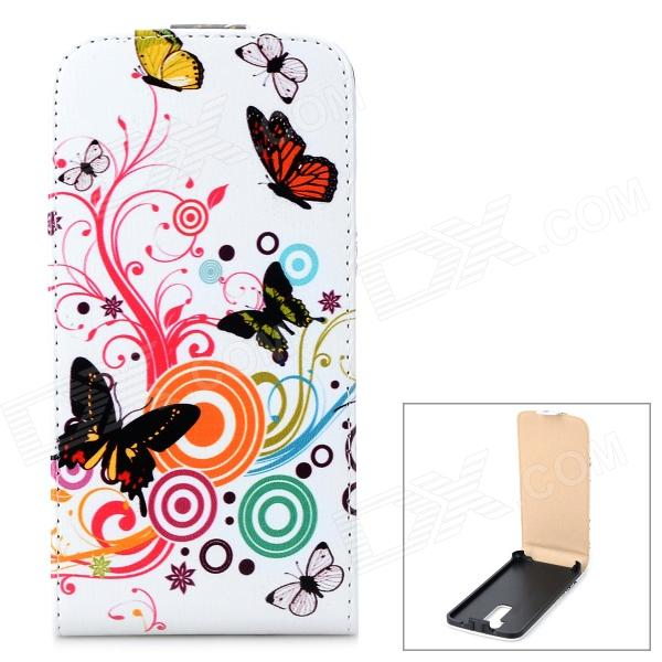 все цены на Stylish Butterfly Pattern Flip-open PU Leather Case for LG G2 - Multicolored онлайн