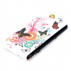 Stylish Butterfly Pattern Flip-open PU Leather Case for LG G2 - Multicolored