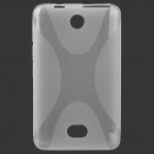 Simple Stylish X Pattern Protective TPU Back Case for Nokia 501 - Translucent