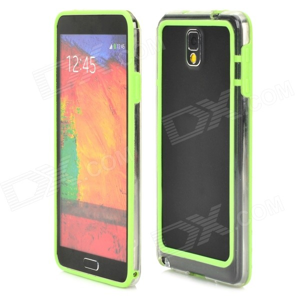 цены на HD Protective Plastic Bumper Frame for Samsung Galaxy Note 3 - Green
