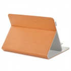 Protective Flip Open PU Leather Case w/ Stand for 9.7'' Tablet PC - Brown