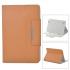 Protective Flip Open PU Leather Case w/ Stand for 10.1'' Tablet PC - Brown