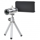 Aluminum Alloy 12X Telescope w/ Back Case / TrIpod for Iphone 5 / 5s - Silver