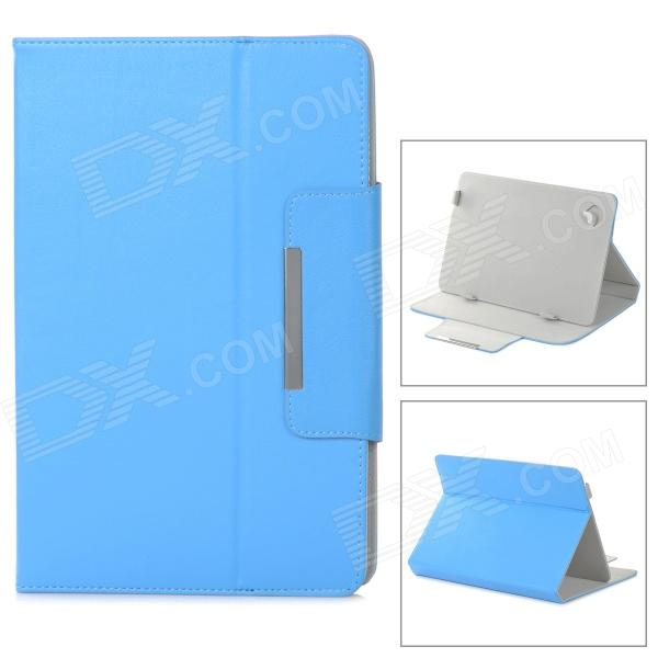 Protective Flip Open PU Leather Case w/ Stand for 10.1'' Tablet PC - Blue universal protective flip open suction cup pu leather case cover w stand for tablet pc blue