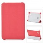 Protective Flip Open PU Leather Case w/ Stand for Samsing 3100 - Red