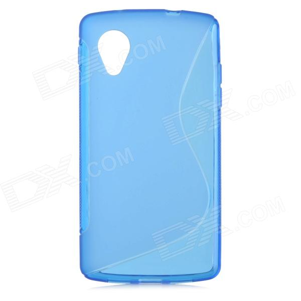 S Shaped Protective TPU Back Case for LG Google NEXUS 5 - Blue zte zte axon 7 mini
