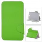 Protective Flip Open PU Leather Case w/ Stand for Samsung P3200 - Green