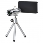 Aluminum Alloy 12X Telescope w/ TrIpod + Back Case for Iphone 4 / 4s -Silver