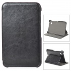 Protective Flip Open PU Leather Case w/ Stand for Samsung GT-P3100 / P3110 / P6200 / P6210 - Black