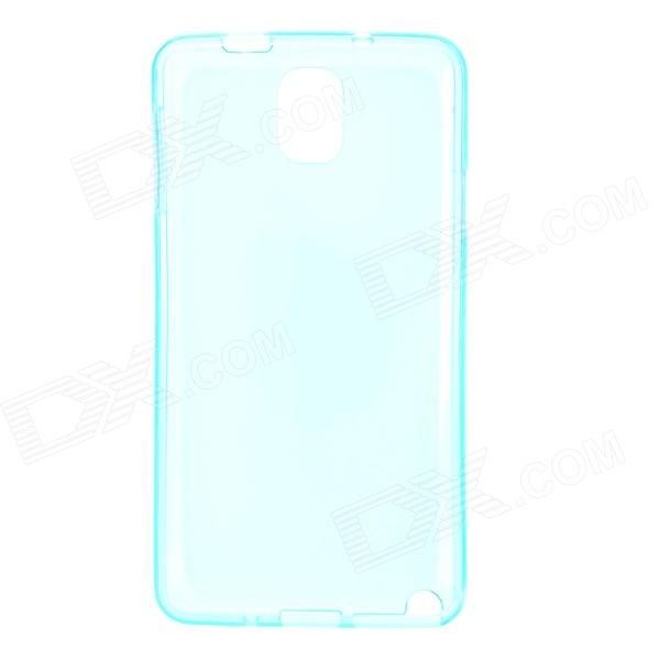 Protective TPU Back Case for Samsung Note 3 - Blue protective tpu silicone back case w stand for samsung galaxy note 3 translucent blue white