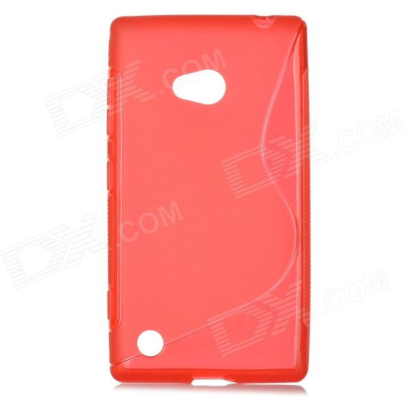 ''S'' Shaped Protective TPU Back Case for Nokia 720 - Red