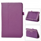 Protective Flip Open PU Leather Case w/ Stand for Asus 180A - Purple